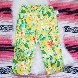 Tropical Hawaiian Style Capri Pants